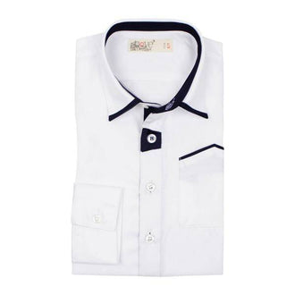 White Shirt With Blk Trim