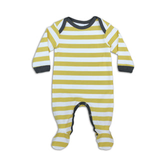 Gold Rugby Stripe Footie