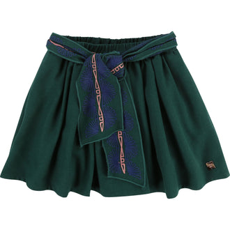 Forest Green Flannel Skirt