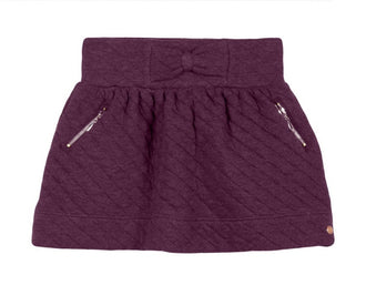 Eggplant Quilted Skirt