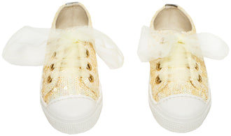 Ivory Sequin Sneakers