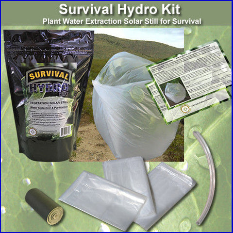 Survival Hydro Kit - Plant Water Extraction Solar Still Kit