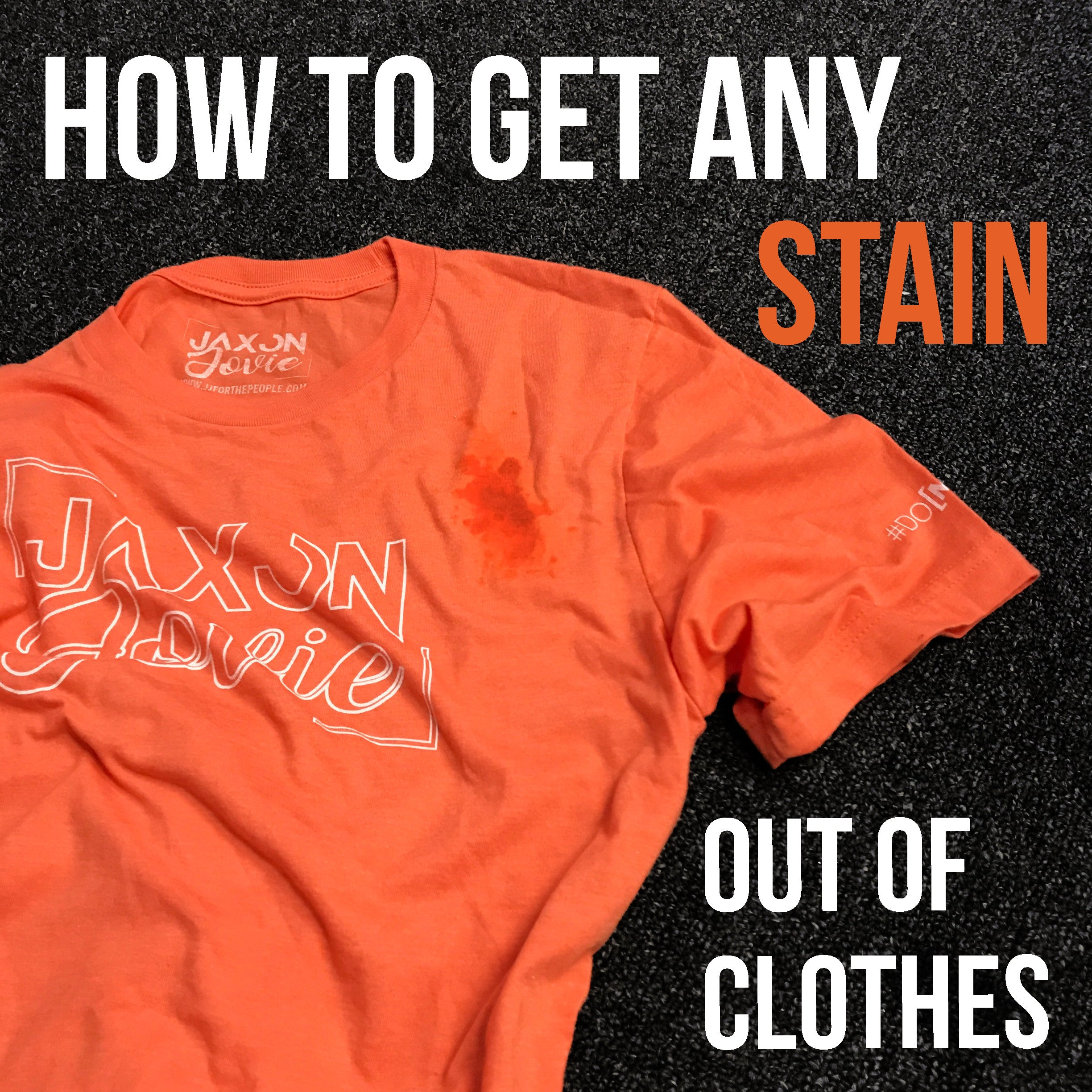 How to Get Any Stain Out of Clothes