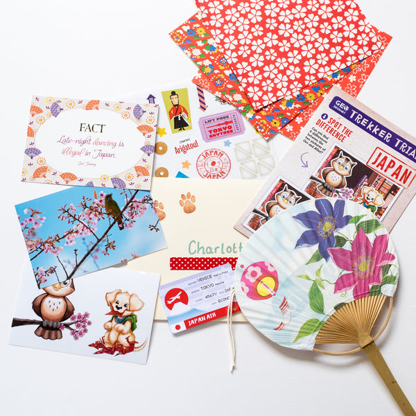 Japan Country Pack with Japanese Fan and Origami Paper