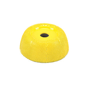 "2"" Power Carving Cup Rasp (Fine Grit) with 1/4"" Diameter Adapter Shaft Yellow CR250"