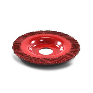 "4"" Flat Face Grooving Disc (Medium Grit) 7/8"" Bore Red FD470"
