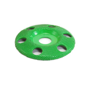 "4"" Disc Wheel W/ Holes Flat Face (Coarse Grit) 7/8"" Bore Green SD490H"