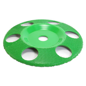 "7"" Disc Wheel Flat Face W/ Holes (Coarse Grit) 7/8"" Bore Green SD790H"