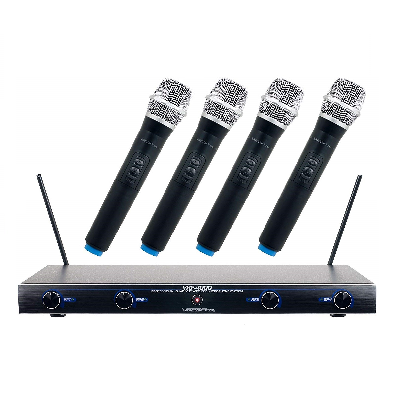 VocoPro VHF-4000 4-Channel Professional Quad VHF Wireless Microphone System