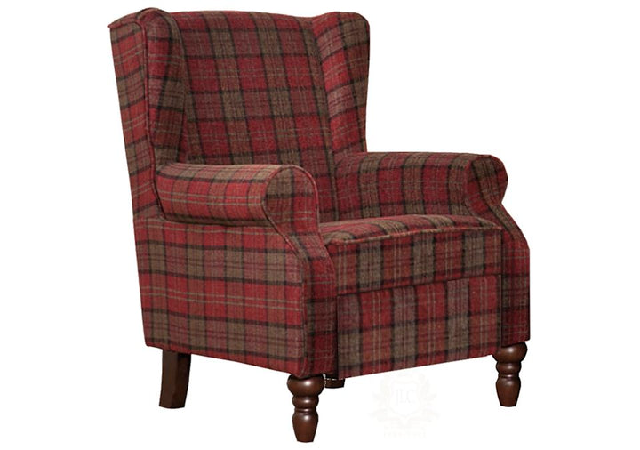 Evelyn accent chair in tartan JLC home furniture store