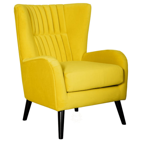 Lila Velvet Upholstered Accent Chair, Ochre | JLC Furniture
