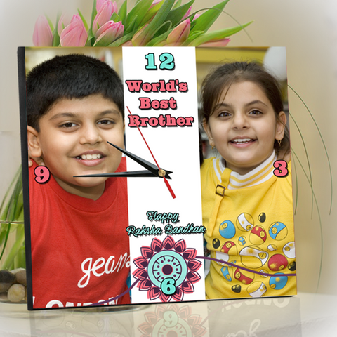 World's Best Brother Clock, Personalized Rakhi Gifts for Brother – Buy/Send Online India
