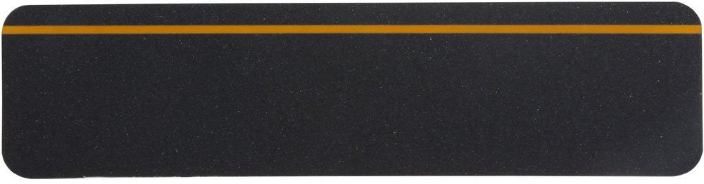 "6"" X 24"" BLACK with REFLECTIVE Stripe Abrasive Tread - Case of 24"