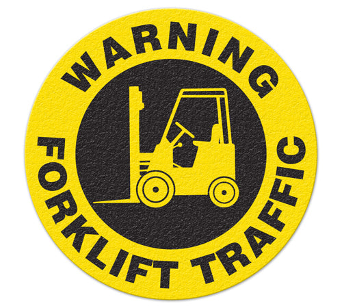 Incom Anti-Slip Safety Warning Forklift Traffic Floor Sign FS1032V