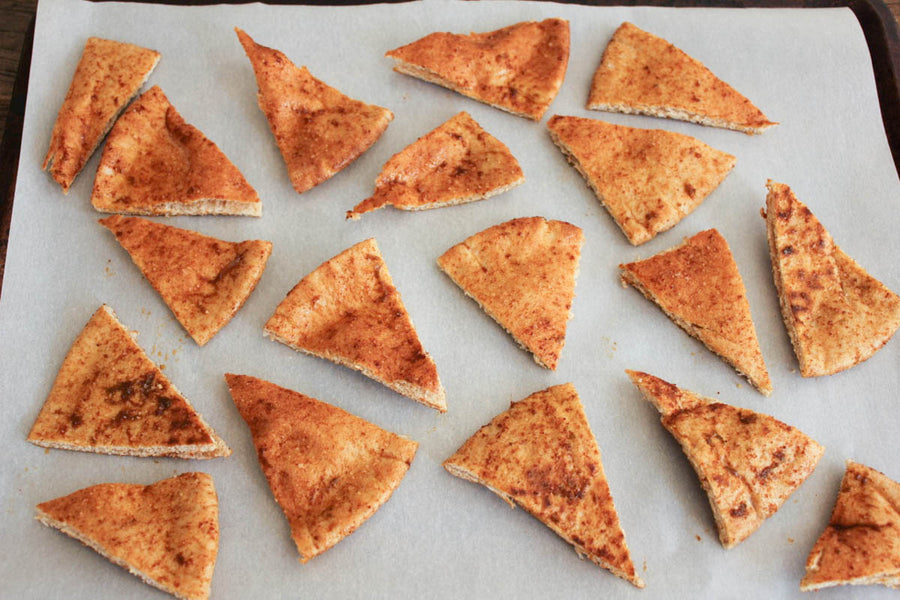 Easy Baked Pita Chips!