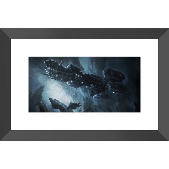Alien: Covenant Ship Framed Fine Art Print [20x30 cm, Black Frame] :: Mental XS Online