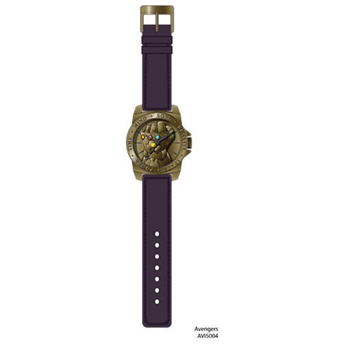 Avengers Infinity Gauntlet Gold Bezel Purple Strap Watch - Official Accutime :: Mental XS Online