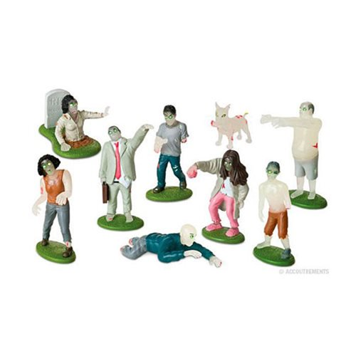 Glow in the Dark Flesh Eating Zombies PlaySet - Official Accoutrements :: Mental XS Online