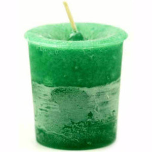 Green Sage Herbal Votive Glass Candle 2½""