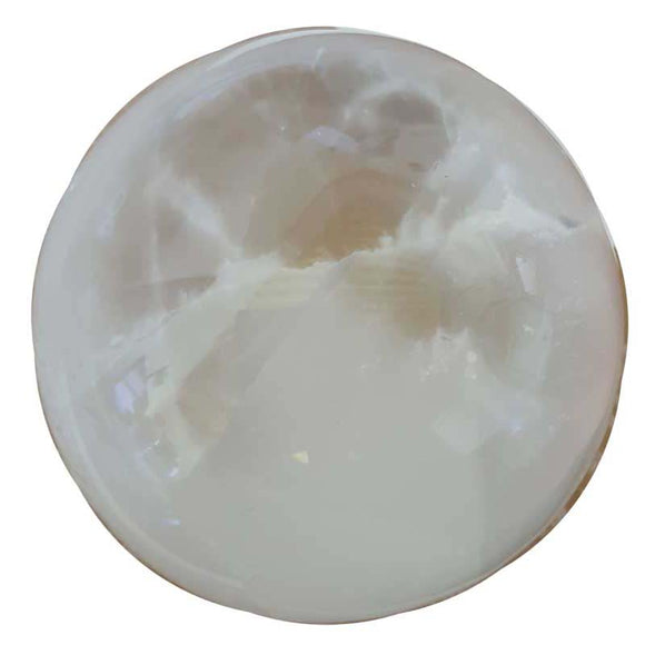 White Selenite Crystal Ball 5
