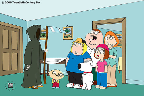 Family Guy Death Is A Bitch Hand-Painted Animation Cel [8