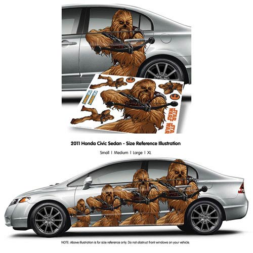 Star Wars Chewbacca Car Decal - X-Large :: Mental XS Online