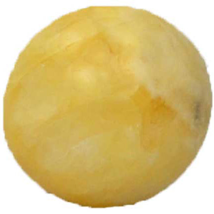Yellow Calcite Gemstone Sphere 40mm