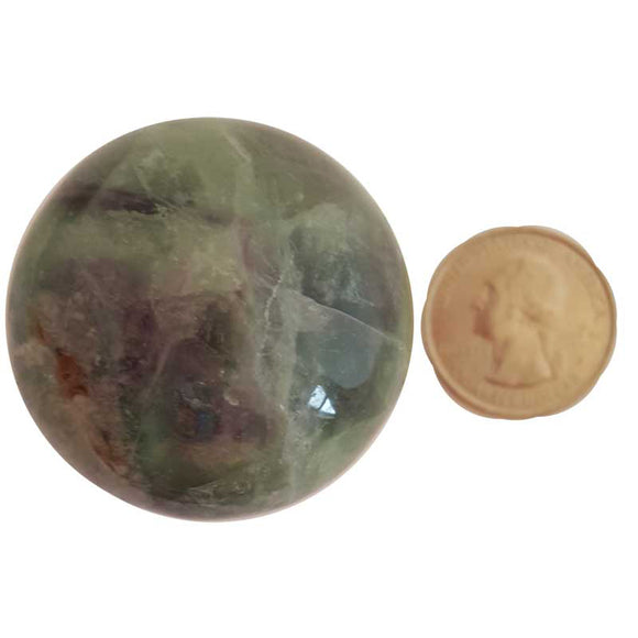 Fluorite Gemstone Sphere 40mm
