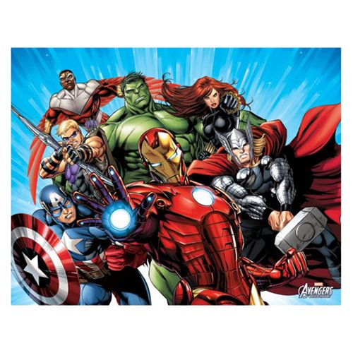 Avengers Blue Canvas Print by Artissimo Design - Official Artissimo :: Mental XS Online