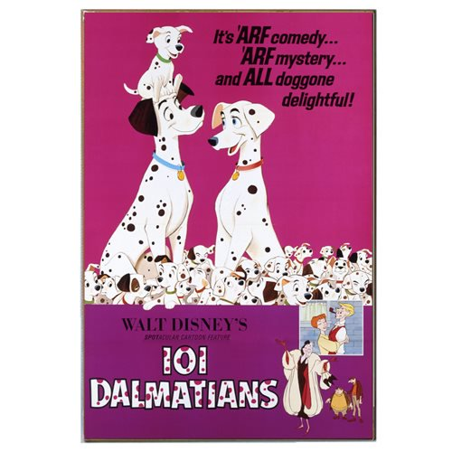 Disney 101 Dalmatians Movie Poster Wood Wall Art - Official Silver Buffalo :: Mental XS Online