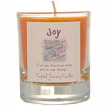 Crystal Journey Candles Orange Joy Herbal Soy Votive Glass Candle 2½