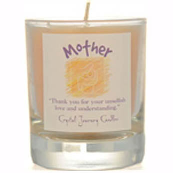 Crystal Journey Candles Yellow Mother Herbal Soy Votive Glass Candle 2½
