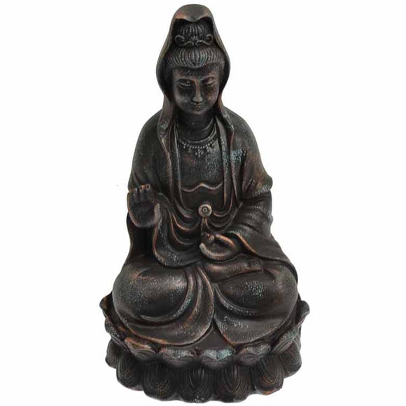 Guanyin Goddess of Compassion Cold-Cast Resin Statue 5½