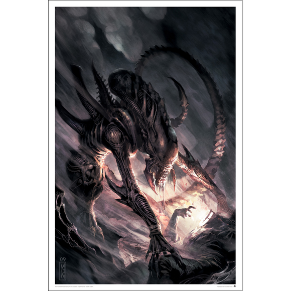 Aliens Issue #3 Comicbook Cover Unframed Metallic Lithograph Art Print by Raymond Swanland [24