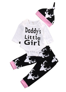 "Girls NZ  ""DADDYS LITTLE GIRL"" Onesie + Pants Set (0 - 18 Months)"