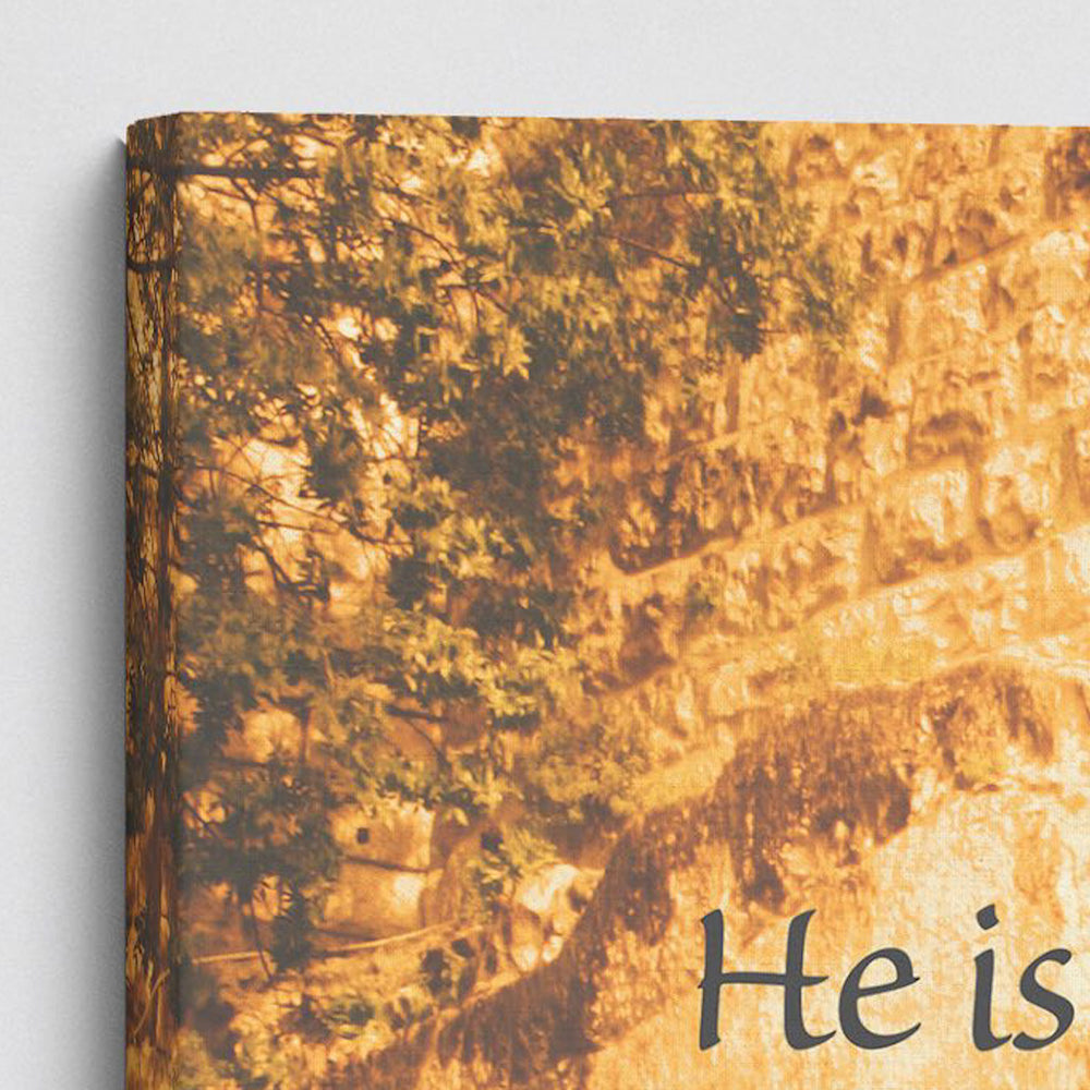 """He Is Risen"" Garden Tomb - Large Gallery Wrapped Canvas"