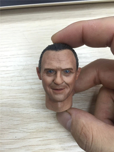1/6 Head Anthony Hopkins Hannibal Lecter from Silence of the Lambs for 12'' action figure