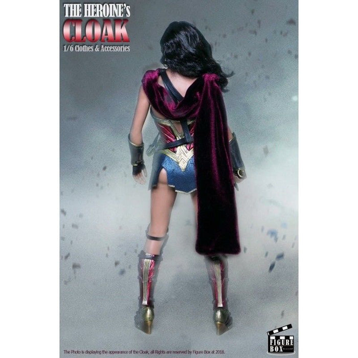 Figure Box 1/6 Scale Red Wired Cape For Wonder Heroine