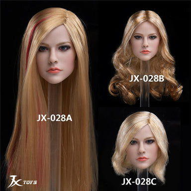 In-Stock 1/6 Scale JXTOYS JX - 028  JX028 Avril Head Sculpt H#Suntan