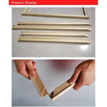 DIY Paint by Number kit for Adults on Canvas-DIY Frame Kit (Stretcher bars)-