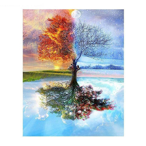 DIY Paint by Number kit for Adults on Canvas-Earth, Wind & Fire [LIMITED PRINT]-40x50cm (16x20inches)