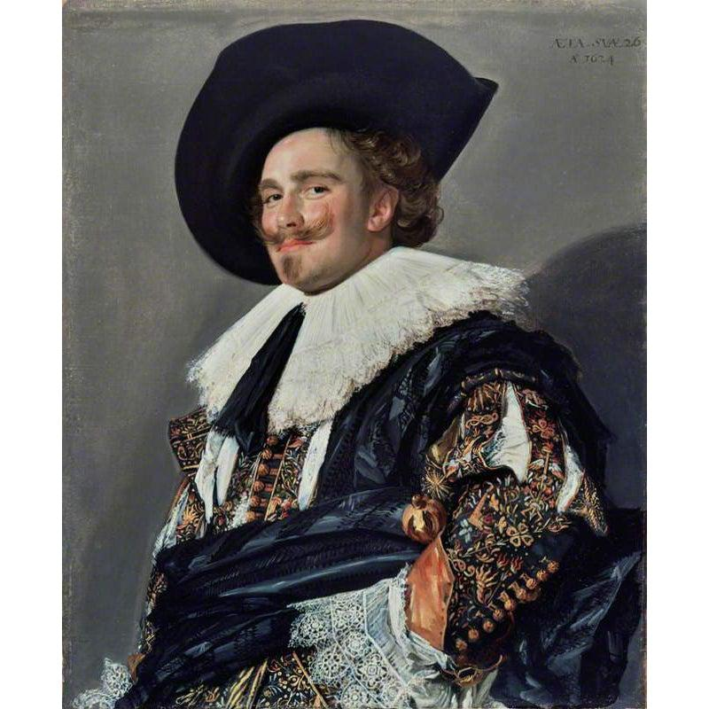 DIY Paint by Number kit for Adults on Canvas-The Laughing Cavalier - Frans Hals - 1624-Home