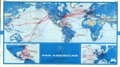 Pan Am 1968 Route Map poster| theposterdepot.com