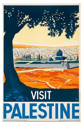 Visit Palestine Poster 24in x36in - Fame Collectibles