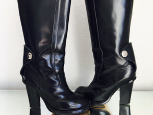 Chloe Black Leather Boots
