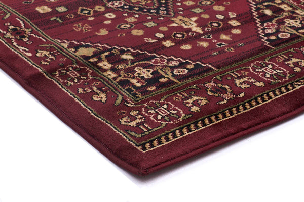 Istanbul Traditional Shiraz Design Runner Rug Burgundy Red