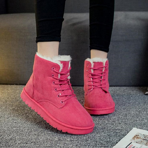 Women's Shoes - 2018 Newest Warm Fur Lady's Ankle Boots