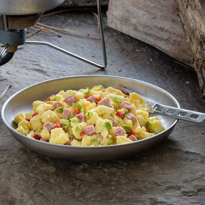 Mountain House- Scrambled Eggs with Ham and Red and Green Peppers
