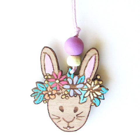 Boho Bunny Necklace - Girl Bunny