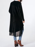 ByChicStyle Collarless Plain Patchwork Flounce Coat - Bychicstyle.com